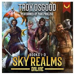Listening to LitRPG Adventure Series Sky Realms